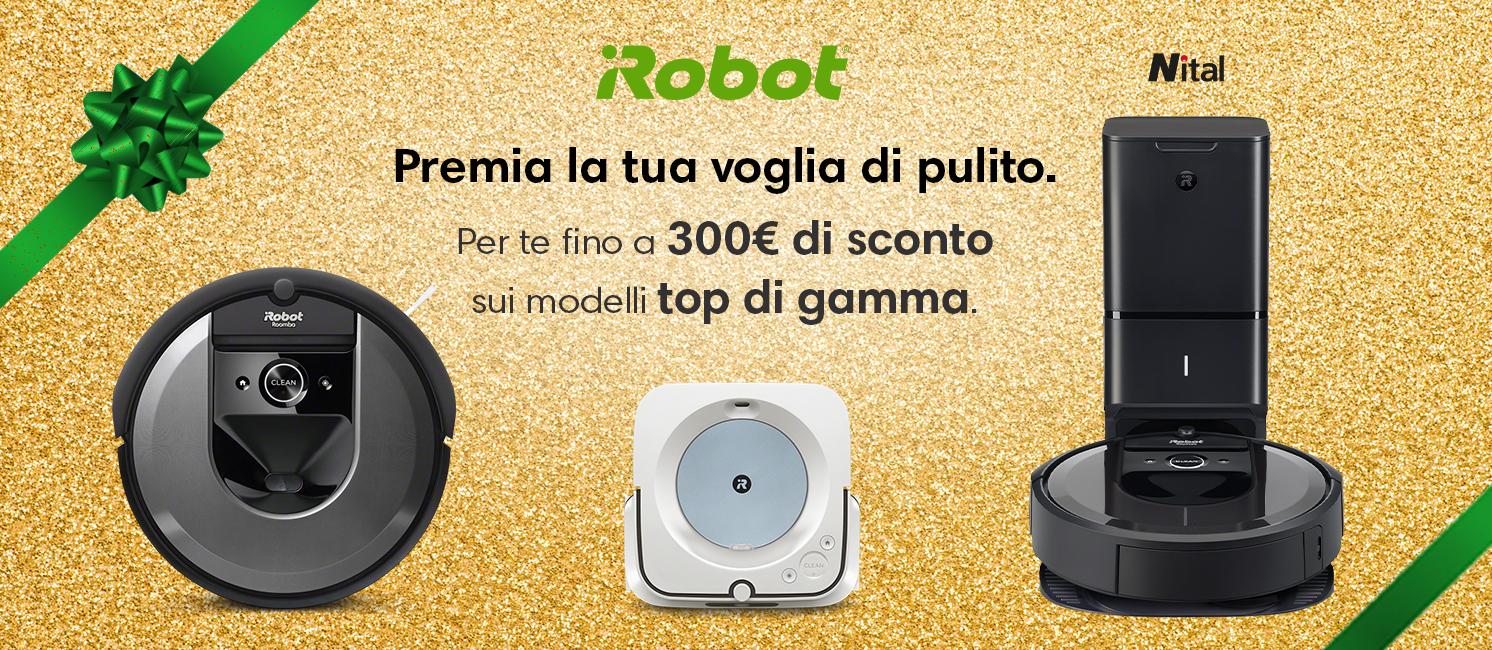 Promo: iRobot: premia la tua voglia di pulito